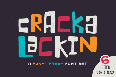 Crackalackin Font Set