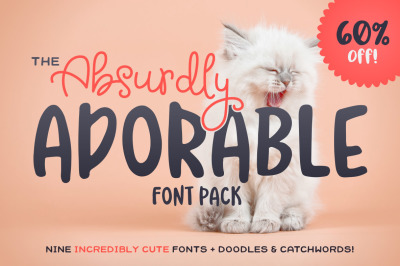 The Absurdly Adorable Font Pack