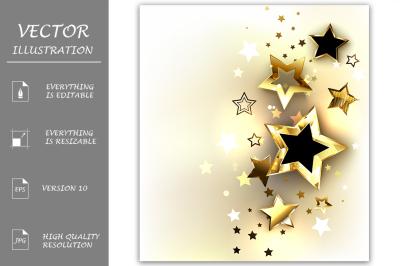 Gold Stars on a Light Background