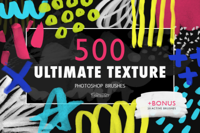 Ultimate Texture - 500 PS Brushes