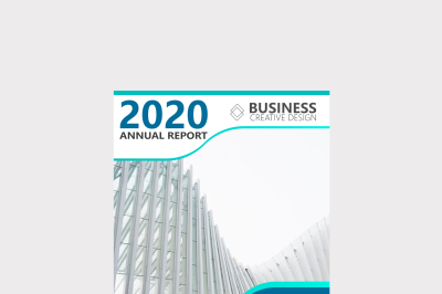 Elegant Annual Report Brochure Cover