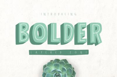 Bolder Layered Font