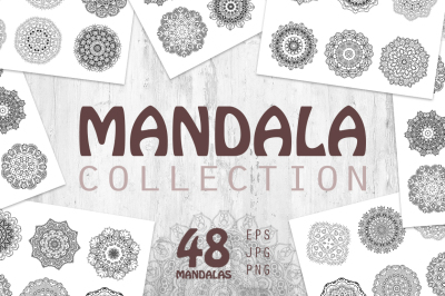 Mandalas collection. Round ornaments
