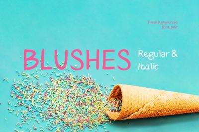 Blushes Regular & Blushes Italic