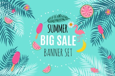 Summer Sale Abstract Banner Background Design. Vector illustration and Raster Version