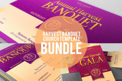 Church Banquet Template Bundle