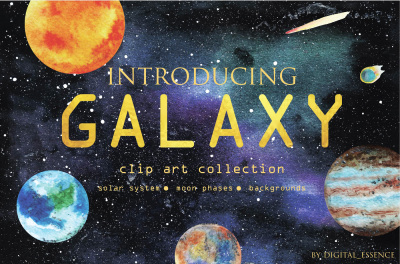 Galaxy clip art collection