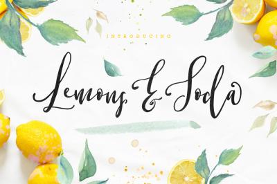 Lemons & Soda Script Font