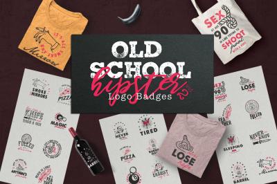 Old School Hipster Logo Badges 2
