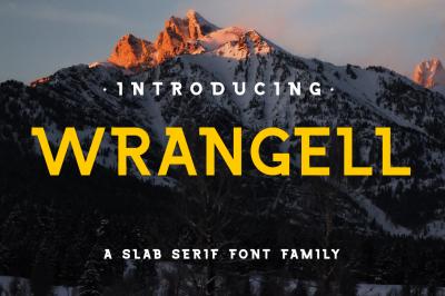 Wrangell - 8 Fonts Family