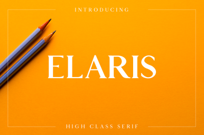 Elaris - An Elegant Serif