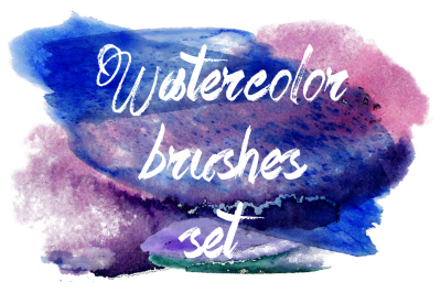 Watercolor brushes set.