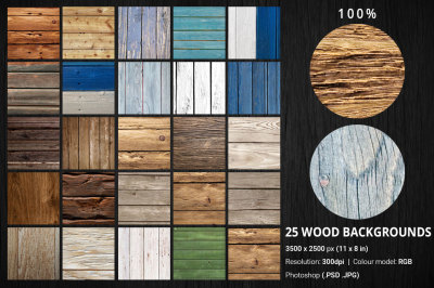 25 Wood Backgrounds