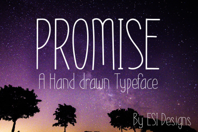 Promise - Modern Hand Drawn Font