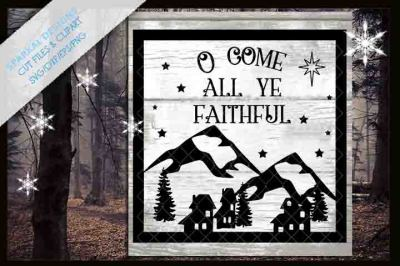 O Come All Ye Faithful ! Christmas Glass Block Design