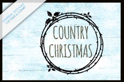 Country Christmas with Wreath