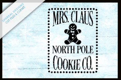 Mrs Claus Cookie Company - Cutting file
