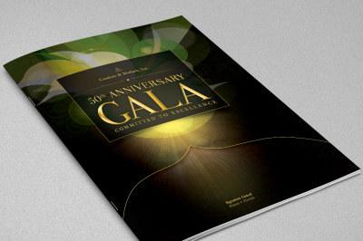 Anniversary Gala Magazine Cover Template