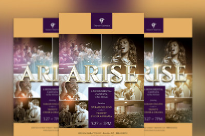 Arise Cantata Flyer Poster Photoshop Template