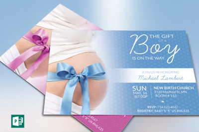 Baby Shower Invitation Publisher Template