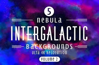 Intergalactic Volume 2 - space paper bundle of 5