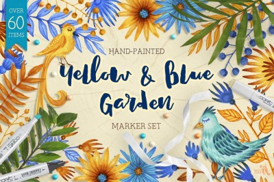 Yellow and Blue Garden Marker Set