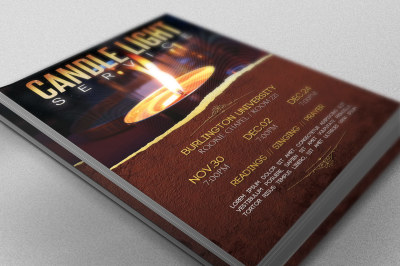 Candle Light Service Flyer Template