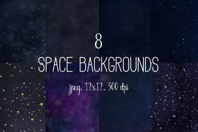 Space backgrounds, cosmic digital paper, galaxy