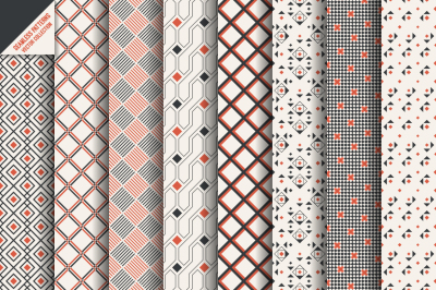 Geometric modern seamless patterns
