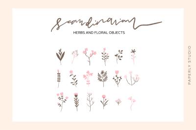 Scandinavian - Herbs and Flowers