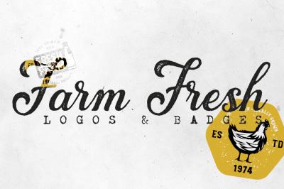 20 FARM FRESH Logos & Badges