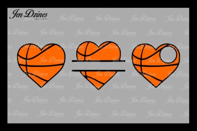Basketball Hearts SVG DXF EPS PNG