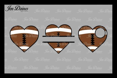 Football Hearts SVG DXF EPS PNG