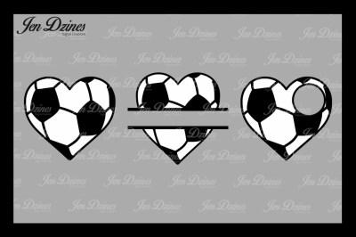 Soccer Hearts SVG DXF EPS PNG