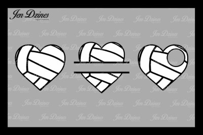 Volleyball Hearts SVG DXF EPS PNG