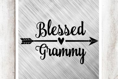 Blessed Grammy SVG/DXF/EPS File