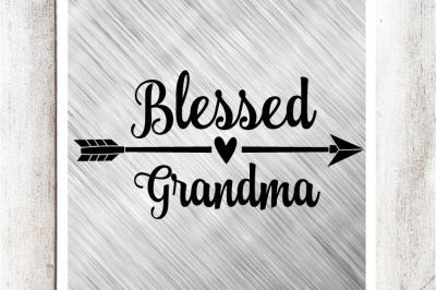 Blessed Grandma SVG/DXF/EPS File