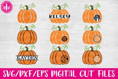 Halloween Pumpkins - SVG, DXF, EPS Cut File