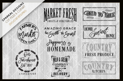 Farmhouse Bundle - NEW Designs - SVG.DXF.PNG.EPS