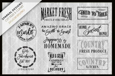 Farmhouse Bundle - NEW Designs - SVG.DXF.PNG.EPS