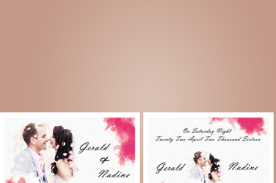 Watercolour wedding card
