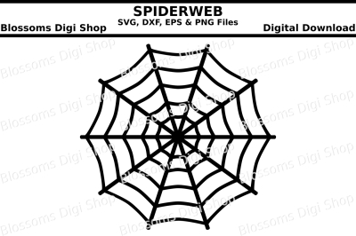 Spiderweb cut files, SVG, DXP, EPS and PNG files