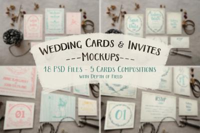 Rustic Wedding Invitation Mockups
