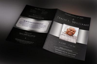 Black Dignity Funeral Program Template