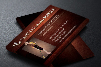 Elegant Cleaning Business Card Template