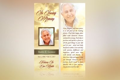 Forever Funeral Bookmark Template