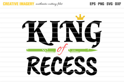 A 'King of Recess' cut file