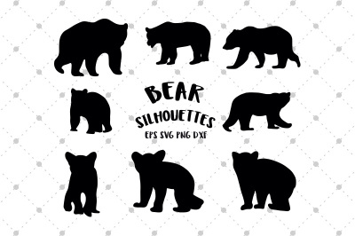 Bear Silhouettes SVG files