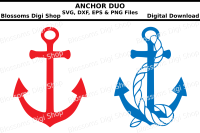 Anchors, SVG, DXF, EPS and PNG cut files