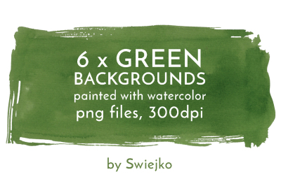 Green Watercolor Backgrounds, Splotches
